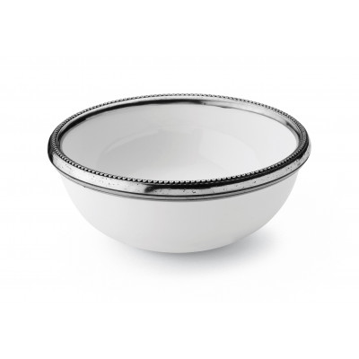 Pewter & ceramic cereal bowl ø cm 16x6,5 h