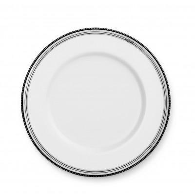 Pewter & ceramic dinner plate ø cm 28