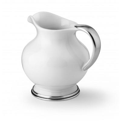 Pewter&ceramic pitcher h cm 19