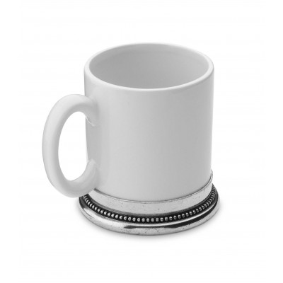 Pewter and ceramic mug h cm 10