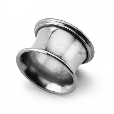 Pewter smooth round napkin ring ø cm 5