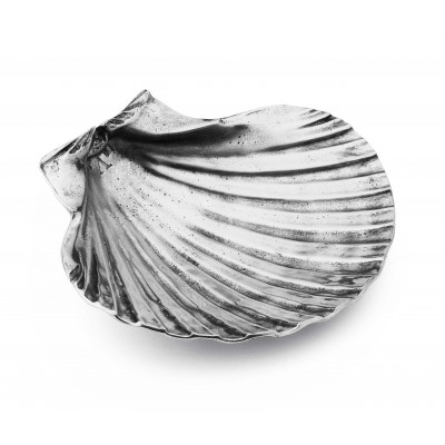 Pewter shell paperweight cm 12,5