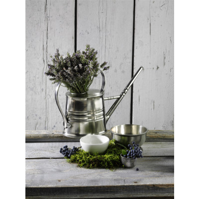 Pewter oval watering can cm 16x12 h cm 24,5