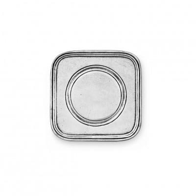 Pewter square coaster cm 8,5x8,5