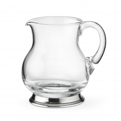 Pewter and glass pitcher h 13,5 cm - 0,5L