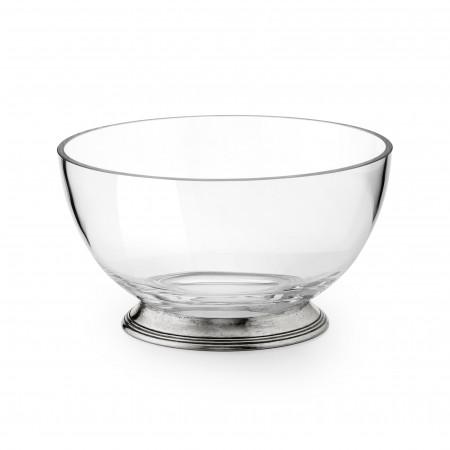 Pewter & Glass Salad Bowl ø 20 cm h 11