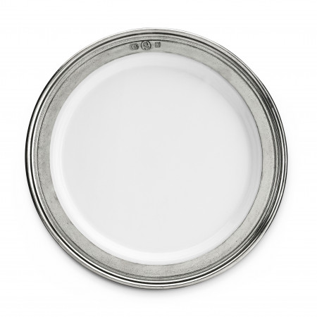 Pewter and ceramic bread plate ø 17,5 cm