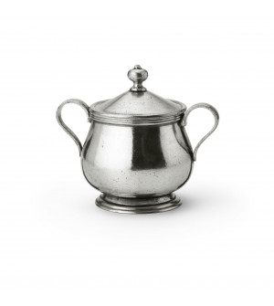 Pewter sugar bowl ø 9,5 h 11,5 cm