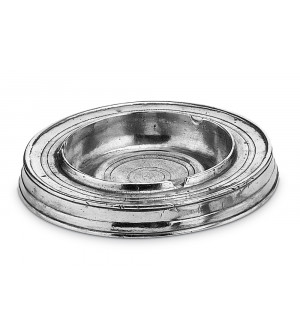 Pewter round ashtray ø 15 cm