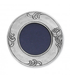 Pewter round picture frame