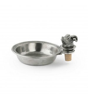 Pewter bottle holder with ram stopper ø 13,5 cm