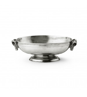 Pewter oval fruit bowl cm 31,5x22