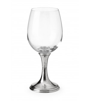 Pewter&glass red wine glass h 19,5 cm 45 cl