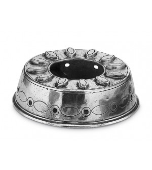 Tea light pewter food warmer ø 13 cm