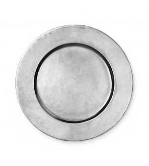 Pewter plain charger ø cm 33,5
