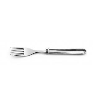 Pewter and stainless steel table fork 20 cm