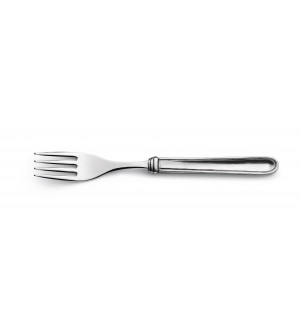 Pewter and stainless steel dessert fork 18,5 cm