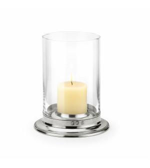 Pewter&Glass hurricane lamp ø cm 26 - h cm 32