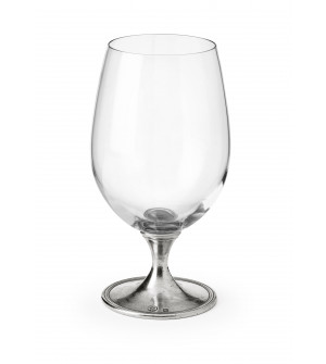 Pewter stem beer glass cm 17,5 h - 58 cl