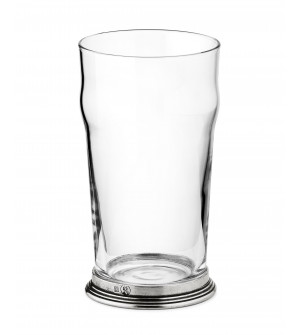 Pewter & glass beer glass h 16 cm - 56 cl
