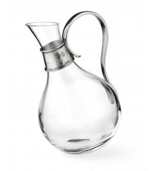 Pewter & Glass Carafe h 23 cm - 1 Lt