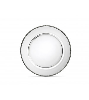 Glass&Pewter Dinner Plate ø 28 cm