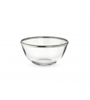 Glass&Pewter Salad Bowl ø 23,5 cm