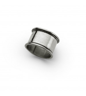 Pewter round napkin ring ø cm 5
