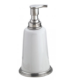 Pewter and ceramic soap pump cm 9x18h