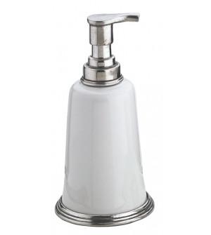 Pewter and ceramic soap pump cm 9x18h