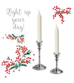 Pewter candlestick