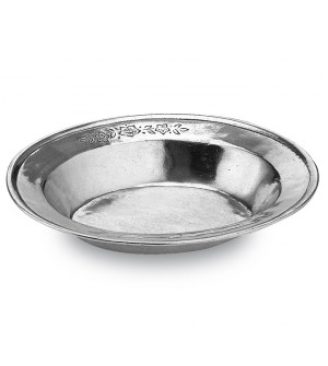 Pewter oval bowl cm 19x23 h 4