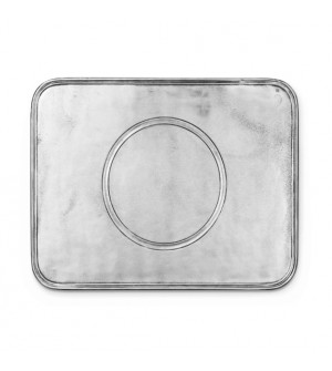 Pewter rectangular placemat cm 29x39
