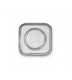 Pewter square coaster cm 8,5x8,5