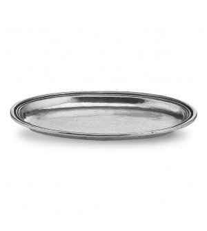 Pewter small oval dish cm 10,5x16,5
