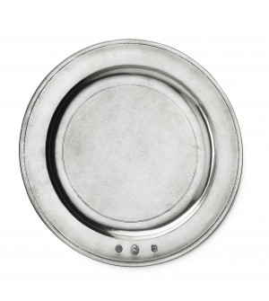 Pewter round charger ø 36,5 cm