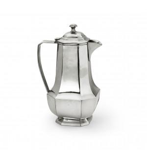 Pewter octagonal coffeepot ø 12,3 cm h 24,6 cm