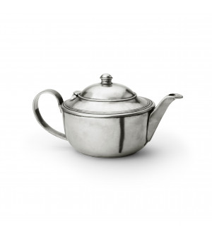 Pewter oval teapot 16x13,4 h - 1 L