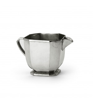 Pewter octagonal milk pot 8,9x8,8 cm h