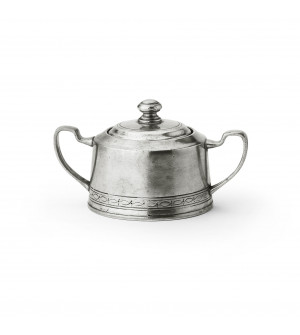 Pewter sugar bowl h cm 8