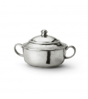 Pewter sugar bowl cm 11x9h