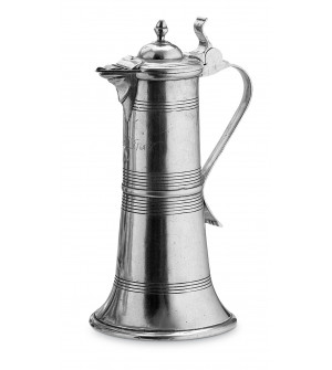 Pewter lidded pitcher h cm 34