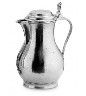 Pewter jug h cm 23