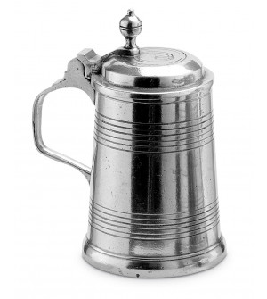 Pewter small lidded tankard h cm 11,5