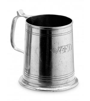 Pewter engraved beer mug h cm 11,5