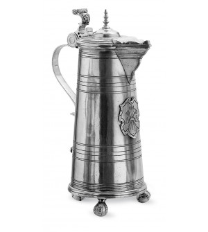 Pewter large lidded pitcher h cm 48