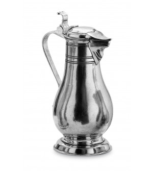 Pewter lidded pitcher h cm 32