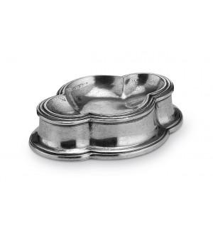 Pewter salt dish cm 10x13