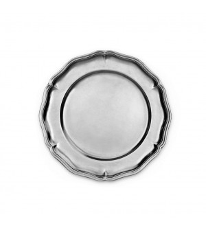Pewter scalloped plate ø cm 22