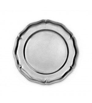 Pewter scalloped plate ø cm 29